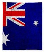 Grunge Australia Flag Fleece Blanket