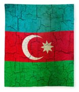 Grunge Azerbaijan Flag Fleece Blanket