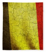 Grunge Belgium Flag Fleece Blanket