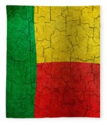 Grunge Benin Flag Fleece Blanket