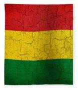 Grunge Bolivia Flag Fleece Blanket