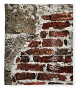 Grunge Brick Wall Fleece Blanket