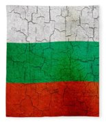 Grunge Bulgaria Flag Fleece Blanket