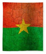 Grunge Burkina Faso Flag Fleece Blanket