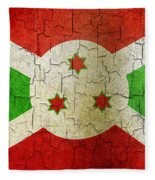 Grunge Burundi Flag Fleece Blanket