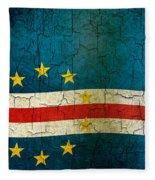 Grunge Cape Verde Flag Fleece Blanket
