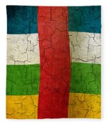 Grunge Central African Republic Flag Fleece Blanket
