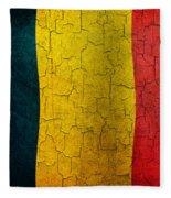 Grunge Chad Flag Fleece Blanket