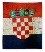 Grunge Croatia Flag Fleece Blanket