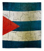 Grunge Cuba Flag Fleece Blanket