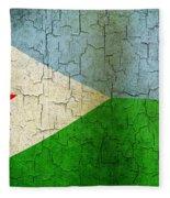Grunge Djibouti Flag Fleece Blanket