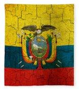 Grunge Ecuador Flag Fleece Blanket