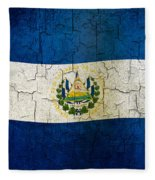 Grunge El Salvador Flag Fleece Blanket