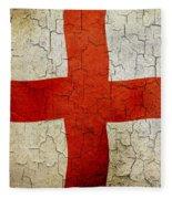 Grunge England Flag Fleece Blanket