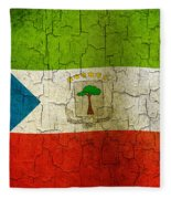 Grunge Equatorial Guinea Flag Fleece Blanket