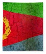 Grunge Eritrea Flag Fleece Blanket