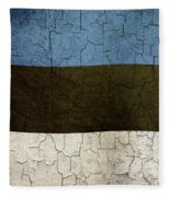 Grunge Estonia Flag Fleece Blanket