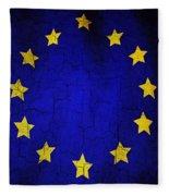 Grunge European Union Flag Fleece Blanket