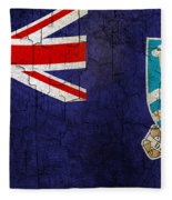 Grunge Falkland Islands Flag Fleece Blanket