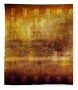 Grunge Filmstrip Fleece Blanket