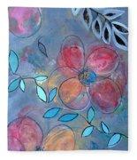 Grunge Floral II Fleece Blanket