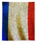 Grunge France Flag Fleece Blanket