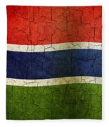 Grunge Gambia Flag Fleece Blanket