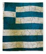 Grunge Greece Flag Fleece Blanket