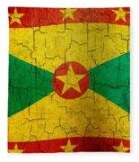 Grunge Grenada Flag Fleece Blanket