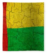 Grunge Guinea-bissau Flag Fleece Blanket