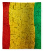 Grunge Guinea Flag Fleece Blanket