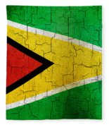 Grunge Guyana Flag Fleece Blanket