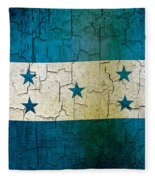 Grunge Honduras Flag Fleece Blanket