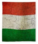 Grunge Hungary Flag Fleece Blanket
