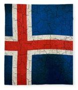 Grunge Iceland Flag Fleece Blanket