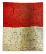 Grunge Indonesia Flag Fleece Blanket