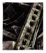 Grunge Industrial Machinery Fleece Blanket