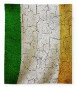 Grunge Ireland Flag Fleece Blanket
