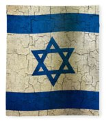 Grunge Israel Flag Fleece Blanket
