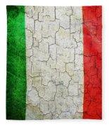Grunge Italy Flag Fleece Blanket