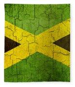 Grunge Jamaica Flag Fleece Blanket