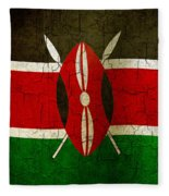 Grunge Kenya Flag Fleece Blanket