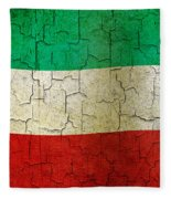 Grunge Kuwait Flag Fleece Blanket