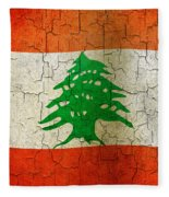 Grunge Lebanon Flag Fleece Blanket