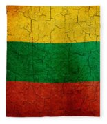 Grunge Lithuania Flag Fleece Blanket