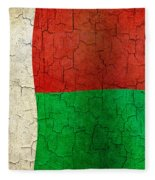 Grunge Madagascar Flag Fleece Blanket
