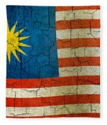 Grunge Malasia Flag  Fleece Blanket