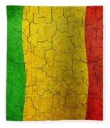Grunge Mali Flag Fleece Blanket