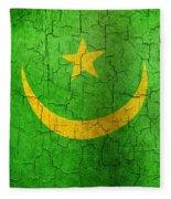 Grunge Mauritania Flag Fleece Blanket