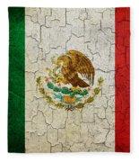 Grunge Mexico Flag Fleece Blanket